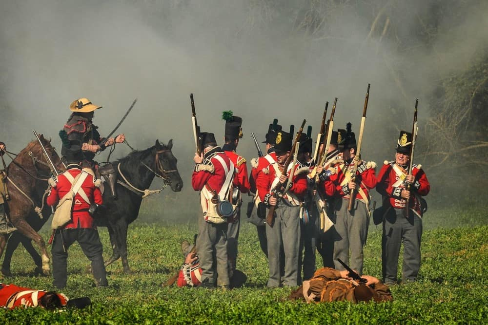 Canadian troops during 1812 War against America