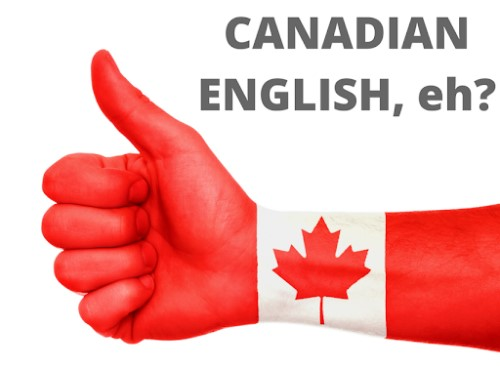 A red hand with a Canadian flag on it is showing thumbs up